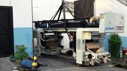 Mudanças de máquinas industriais